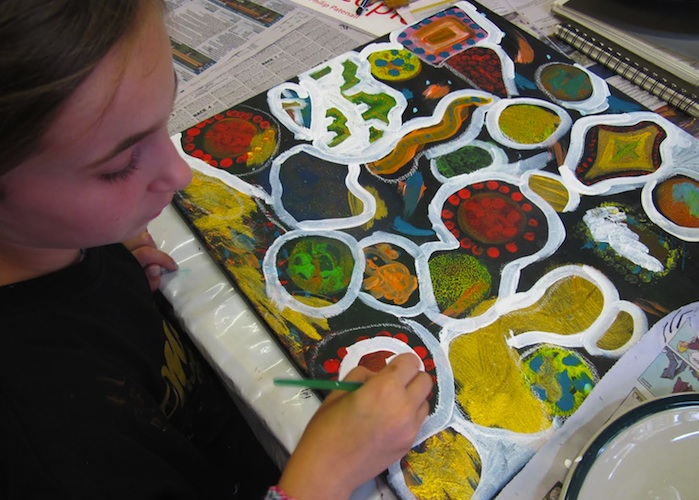 Children's art class in Kiama NSW