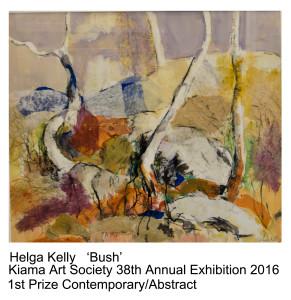 1st Prize Contemp Abstract Helga Kelly Kiama Art Exh 2016