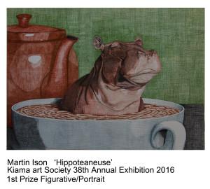 1st Prize Figurative Portrait Martin Ison Kiama Art Soc 38th Exhibition 2016