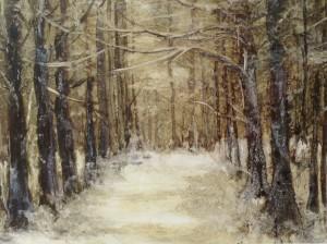 Eva snow scene