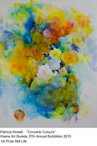 Patricia Howell 1st Prize Watercolour 2015