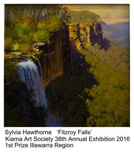 1st Prize Illawarra Region Sylvia Hawthorne Kiama Art Soc 2016