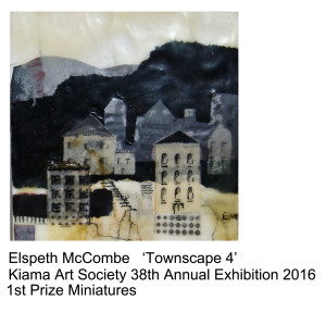 1st Prize Miniatures Elspeth McCombe Kiama Art Soc 38th Annual Exhibition 2016