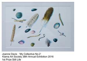 1st Prize Still Life Joanne Davis Kiama Art Soc 38th Exhibition 2016