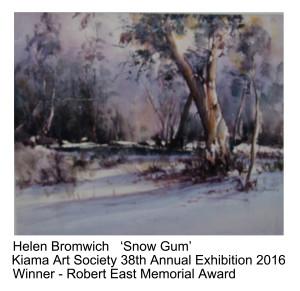 Robert East Memorial Award Helen Bromwich Kiama Art Society 38th Annual Exhibition 2016